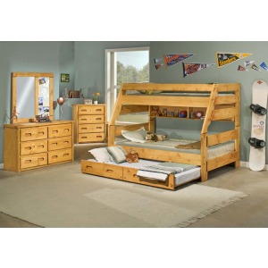 High Sierra Twin/Full Bunk Bed with Trundle Bed