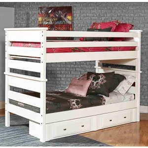 Laguna Twin/Twin Bunk Bed - White