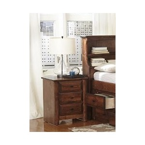Laguna 3 Drawer Nightstand - American Chestnut