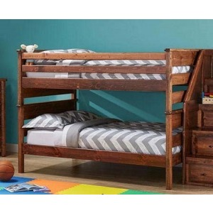Laguna Full/Full Bunk Bed - American Chestnut
