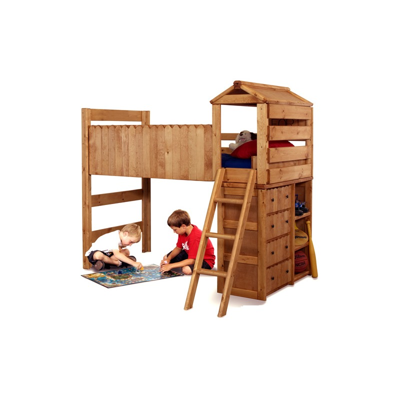 The Fort -- Loft Bed