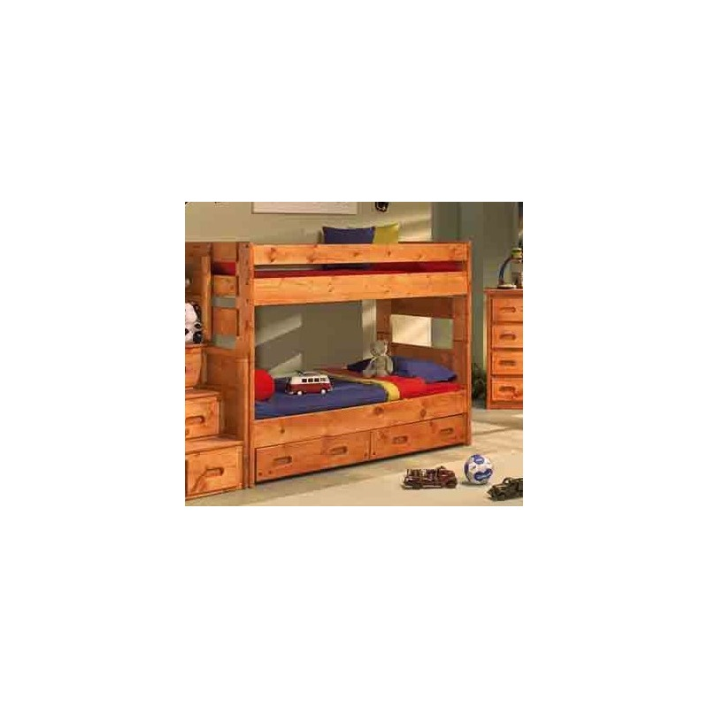 Wrangler Twin Twin Bunk Bed By Trendwood 4711 4710 4795tu Northpoint Furniture Mattress
