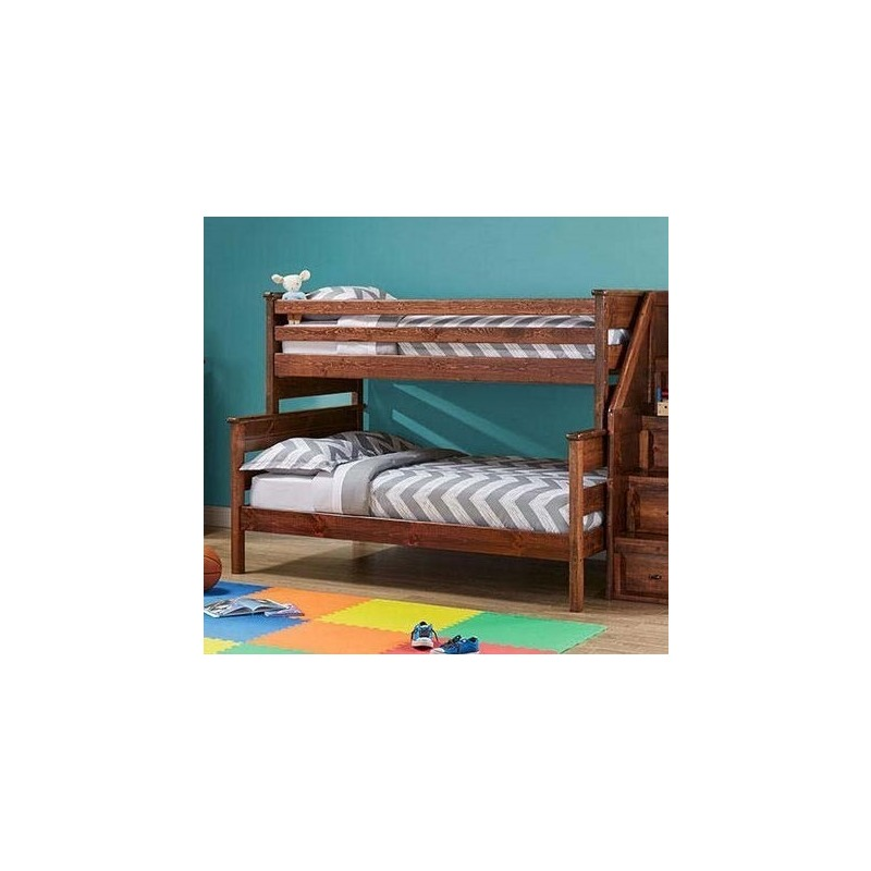 Laguna Twin Full Bunk Bed American Chestnut By Trendwood 4522 4523 Ac Northpoint Furniture Mattress