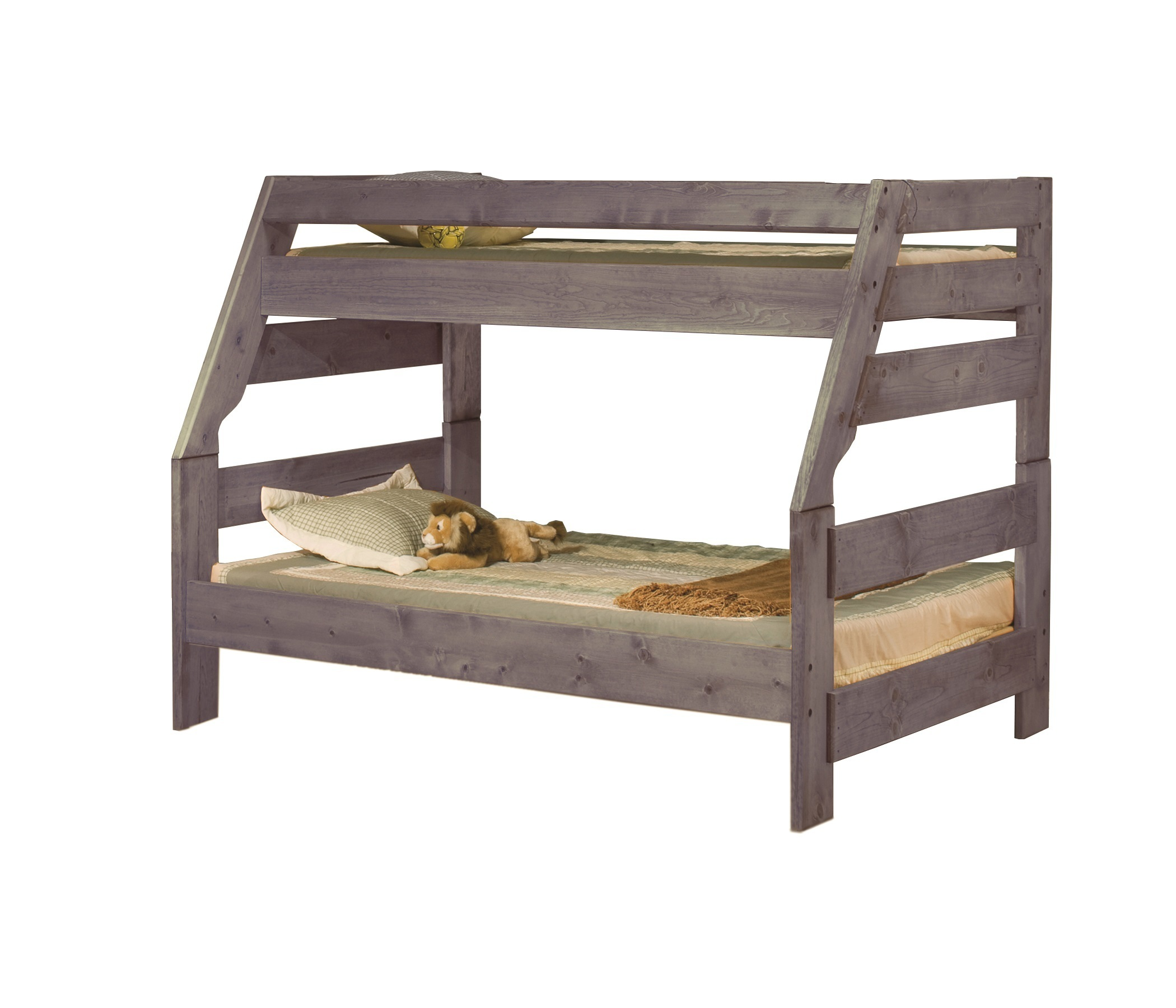 High Sierra Twin Full Bunk Bed Driftwood By Trendwood 4720 4721 4795 D Northpoint Furniture Mattress