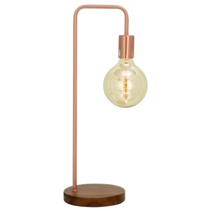 Metal Copper Desk Lamp w/Bulb