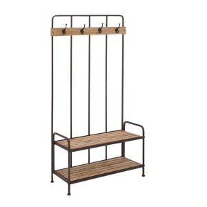 Metal & Wood Coat Rack