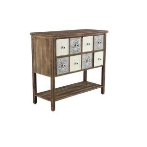 Wood Metal Enamel Drawer Cabinet