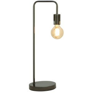Metal Black Desk Lamp w/Bulb