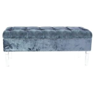 Wood Acrylic Fabric Bench