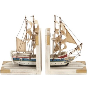 Wood Boat Bookend