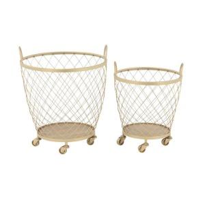 Metal Rolling Baskets - Set of 2