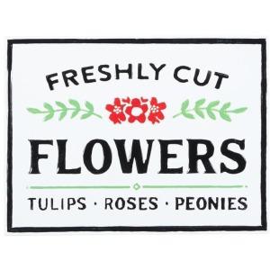 Metal Freshly Cut Flowers Wall Decor