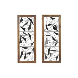 Wood Metal Wall Decor, 2 Assorted