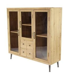 Cabinet - Wood w/Glass Doors