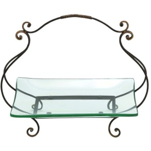 Glass Plate w/Metal Stand