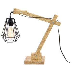 Wood Desk Lamp w/Bulb