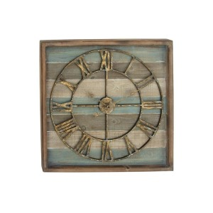 Wood & Metal Wall Clock