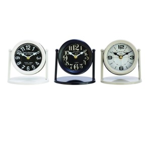Metal Table Clock - 3 Assorted