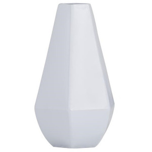 Cosmoliving by Cosmopolitan White Iron Contemporary Vase - Large
