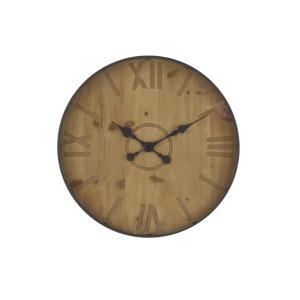 Metal Wood Wall Clock