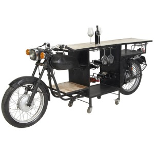 Iron and Wood MotorBike Bar