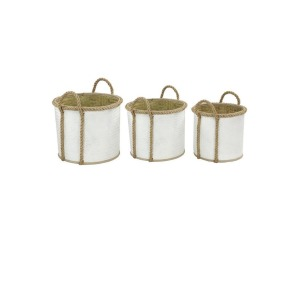 Palm Leaf Baskets - Set of 3