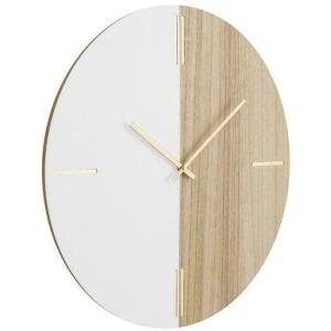 Brown MDF Contemporary Wall Clock