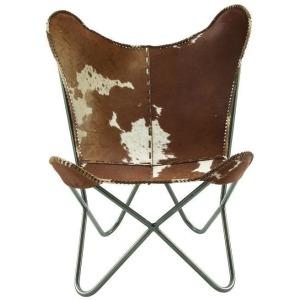 Real Leather Hair Chair