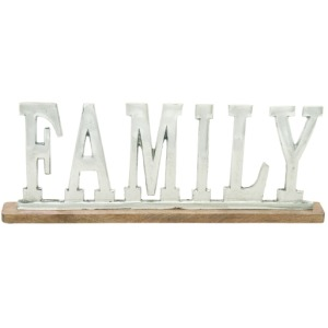 Alum & Wood Family Sign