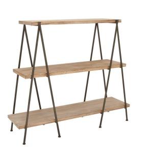 Wood Metal 3 Tier Shelf