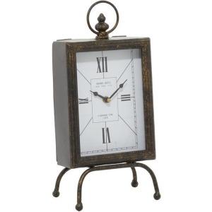 Metal & Wood Table Clock