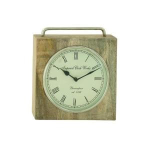 Wood & Metal Table Clock