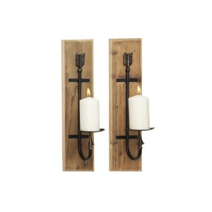 Wood Wall Sconce, S/2