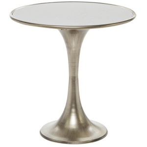 Metal Marble Accent Table