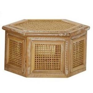 Wood & Rattan Box - Small