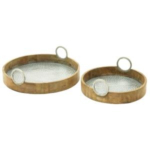 Wood Aluminum Tray
