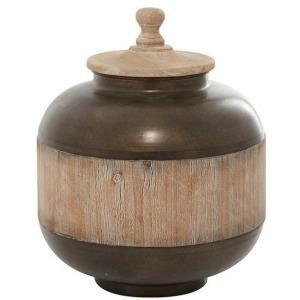 Metal Wood Jar