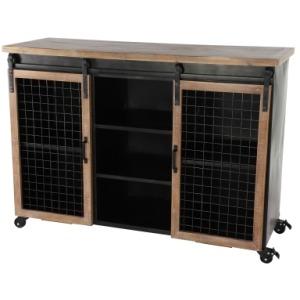 Metal & Wood Cabinet