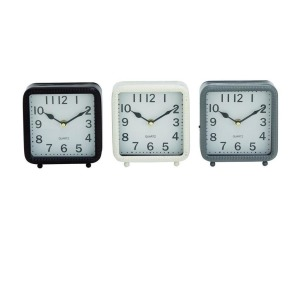 Metal Table Clock - 3 Assorted