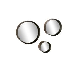 Metal Wall Mirrors - Set of 3