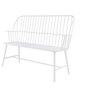 Metal White Bench