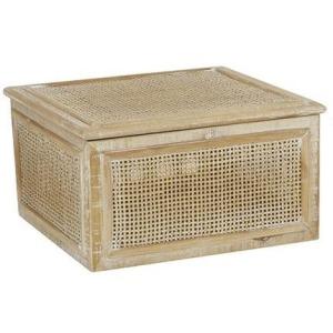 "Rattan Wood 10"" Box"