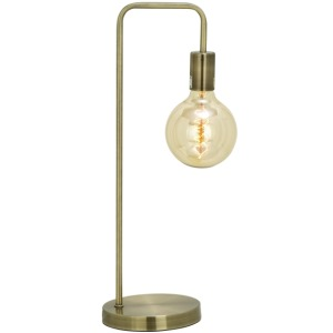 Metal Gold Desk Lamp w/Bulb
