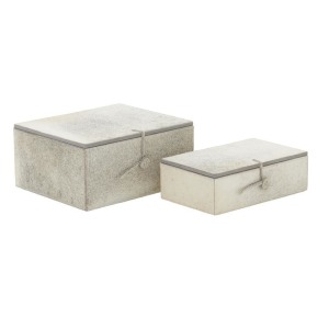 Leather Hide Boxes - Set of 2