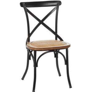 Wood Metal Chair - Antique Black