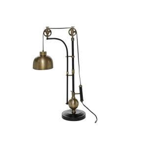 Aluminum Wood Table Lamp