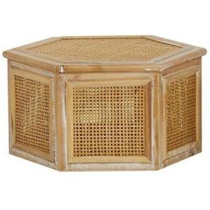 Wood & Rattan Box - Large