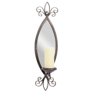 Metal Mirror Candle Sconce