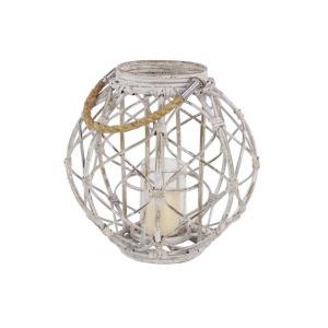 Wood Rope Lantern White
