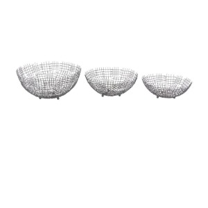 Metal Wire Bowls, S/3
